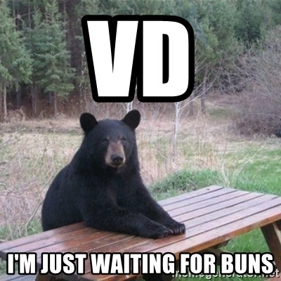 Patient Bear - vd I'm just waiting for buns