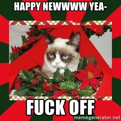 GRUMPY CAT ON CHRISTMAS - Happy Newwww yea- fuck off