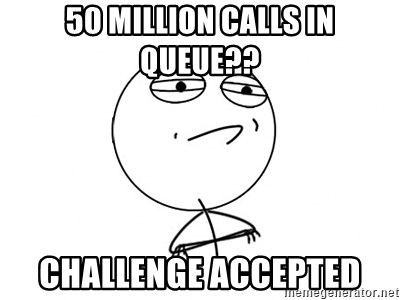 Challenge Accepted HD - 50 million calls in queue?? challenge accepted