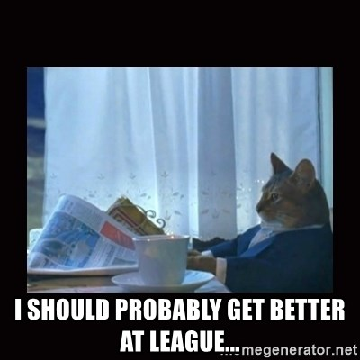 i should buy a boat cat - i should probably get better at league...