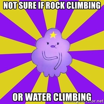 Caroçis1 - NOT SURE IF ROCK CLIMBING OR WATER CLIMBING