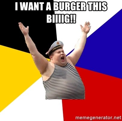 Patriot - i want a burger this biiiig!!