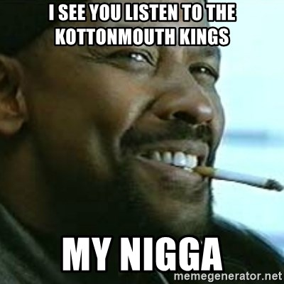 My Nigga Denzel - i see you listen to the kottonmouth kings my nigga
