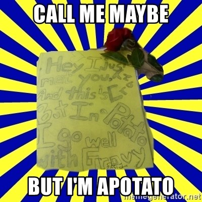 Livy - CALL ME MAYBE BUT I'M APOTATO