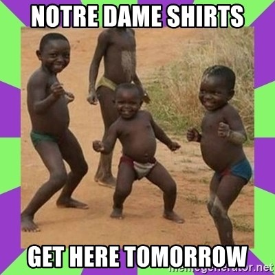 african kids dancing - Notre Dame shirts Get here tomorrow