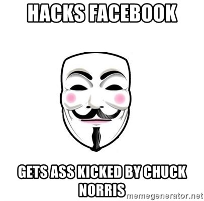 Anon - HACKS FACEBOOK  GETS ASS KICKED BY CHUCK NORRIS