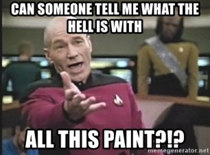 Picard Wtf - Can someone tell me what the hell is with all this paint?!?