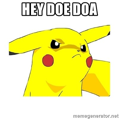 Pikachu - HEY DOE DOA