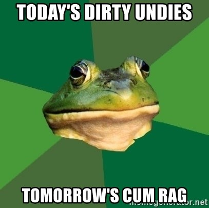 Foul Bachelor Frog - today's dirty undies tomorrow's cum rag