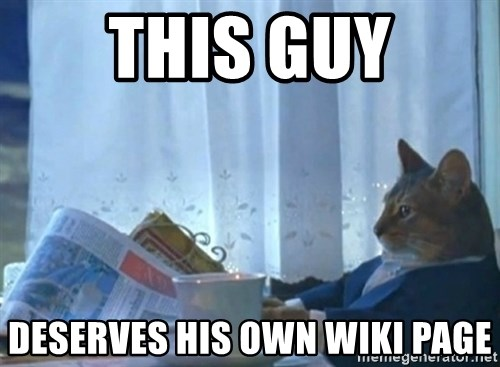 newspaper cat realization - This guy deserves his own wiki page