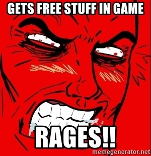 Rage Face - Gets free stuff in game RAGEs!!