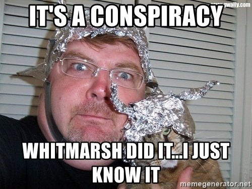 conspiracy nut - it's a conspiracy whitmarsh did it...i just know it