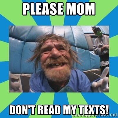 hurting henry - please mom don't read my texts!