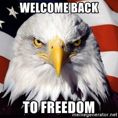 Freedom Eagle  - Welcome back To freedom