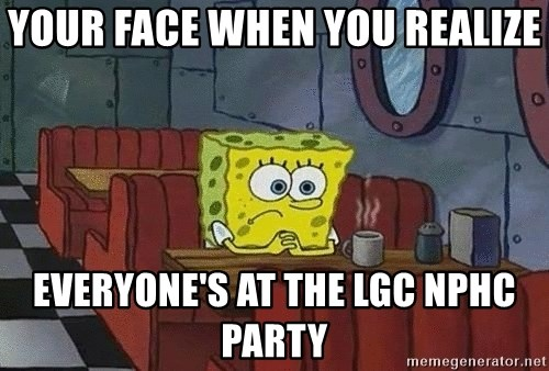 Coffee shop spongebob - Your face when you realize Everyone's at the Lgc NPHC party