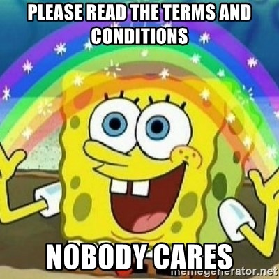 Spongebob - Nobody Cares! - Please read the terms and conditions Nobody carEs