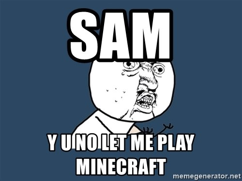 Y U No - sam y u no let me play minecraft