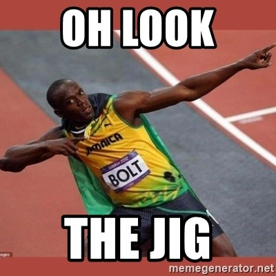 USAIN BOLT POINTING - Oh Look  The Jig