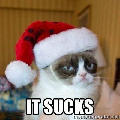 Grumpy Cat Santa Hat -  It sucks