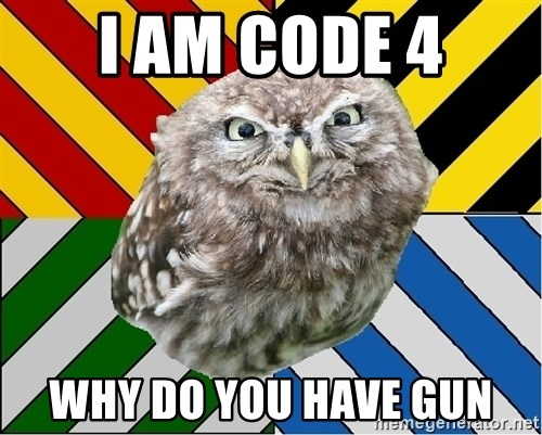 JEALOUS POTTEROMAN - I am code 4 Why do you have gun