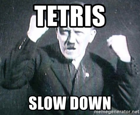 Successful Hitler - tetris slow down