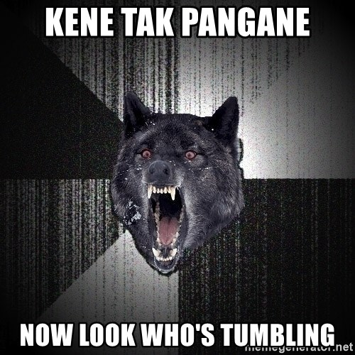 Insanity Wolf - kene tak pangane now look who's tumbling
