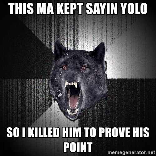 Insanity Wolf - this ma kept sayin yolo so i killed him to prove his point