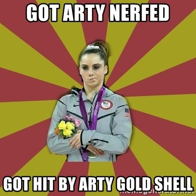 Not Impressed Makayla - got arty nerfed got hit by arty gold shell