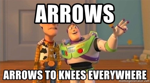 Consequences Toy Story - Arrows Arrows To Knees Everywhere