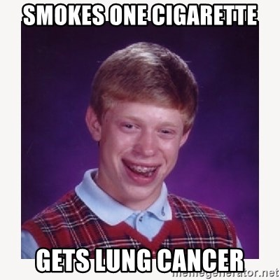 nerdy kid lolz - SMOKES ONE CIGARETTE GETS LUNG CANCER
