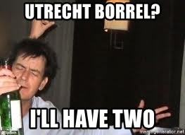 Drunk Charlie Sheen - Utrecht borrel? I'll have two