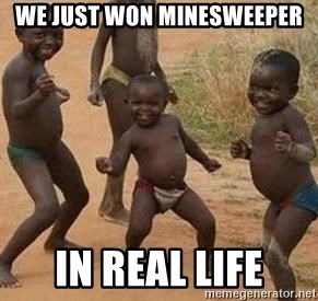 african children dancing - We just won minesweeper in real life