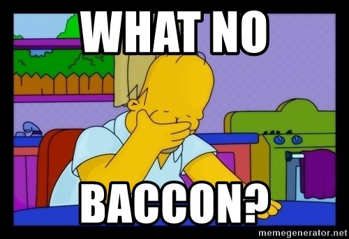 Homer Facepalm - WHAT NO BACCON?