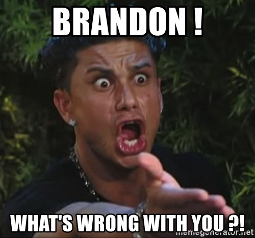 Flippinpauly - brandon ! what's wrong with you ?!