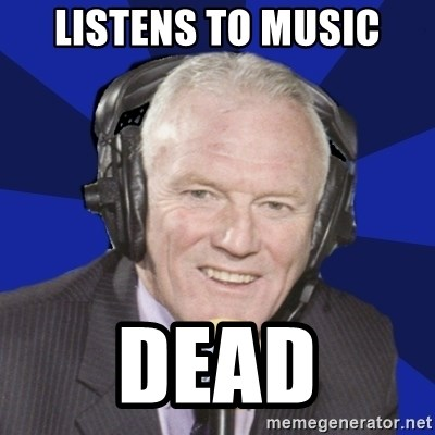 Optimistic Eddie Gray  - LISTENS TO MUSIC DEAD