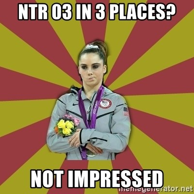 Not Impressed Makayla - NTR 03 in 3 Places? Not impressed