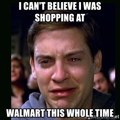 crying peter parker - I CAN'T BELIEVE I WAS SHOPPING AT WALMART THIS WHOLE TIME