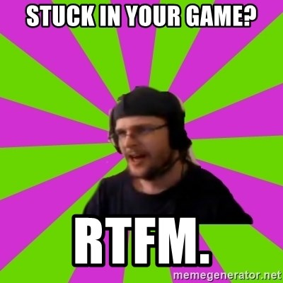 HephWins - Stuck in your game? rtfm.