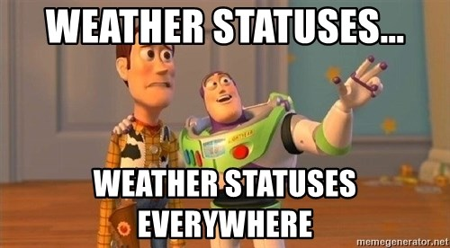 Consequences Toy Story - WEATHER STATUSES... WEATHER STATUSES EVERYWHERE