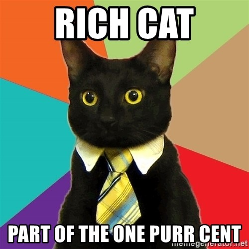 Business Cat - Rich cat part of the one purr cent