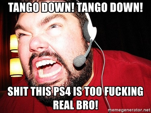 Angry Gamer - Tango down! Tango down! shit this ps4 is too fucking real bro!