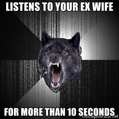 Insanity Wolf - Listens to your ex wife for more than 10 seconds