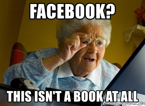 Internet Grandma Surprise - facebook? this isn't a book at all