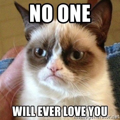 Grumpy Cat  - No one will ever love you
