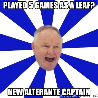 Crafty Randy - Played 5 games as a leaf? New Alterante Captain