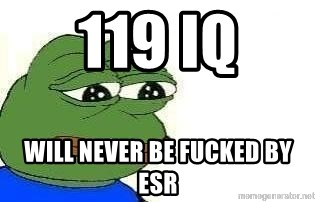 Sad Frog - 119 iq will never be fucked by esr