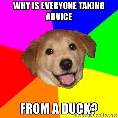 Advice Dog - Why is everyone taking advice from a duck?