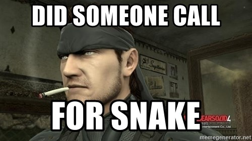 Solid Snake - did someone call for snake