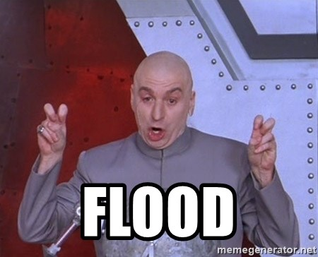 Dr. Evil Air Quotes -  FLOOD