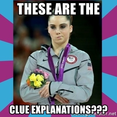 Makayla Maroney  - These are the  clue explanations???